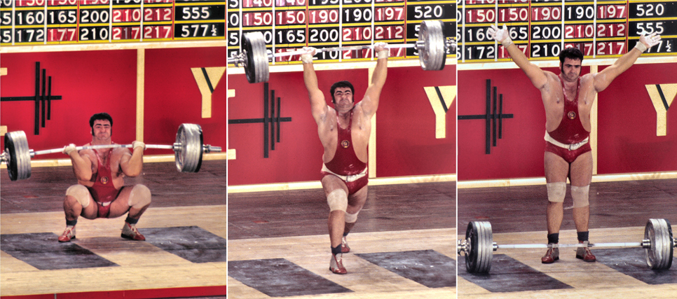 Vasily Alexeev becoming the first man to clean and jerk 500 pounds. Bruce Klemens photo.