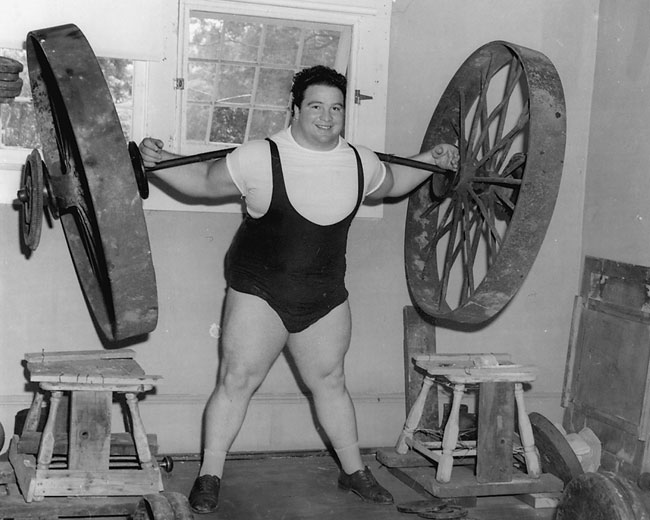 Paul Anderson helped popularize the squat with his unprecendented accomplishments in this exercise. Photo courtesy of Paul Anderson Youth Home.